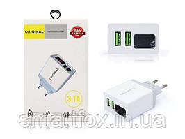 Сетевое зарядное устройство СЗУ Original X35 +дисплей 2USB