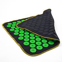 Килимок масажний Аплікатор Кузнєцова (для спини, ніг) OSPORT Їжачок 188 (apl-004) Чорно-зелений