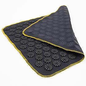 Коврик массажный Аппликатор Кузнецова (для спины, ног) OSPORT Ёжик 188 (apl-004) Черно-черный
