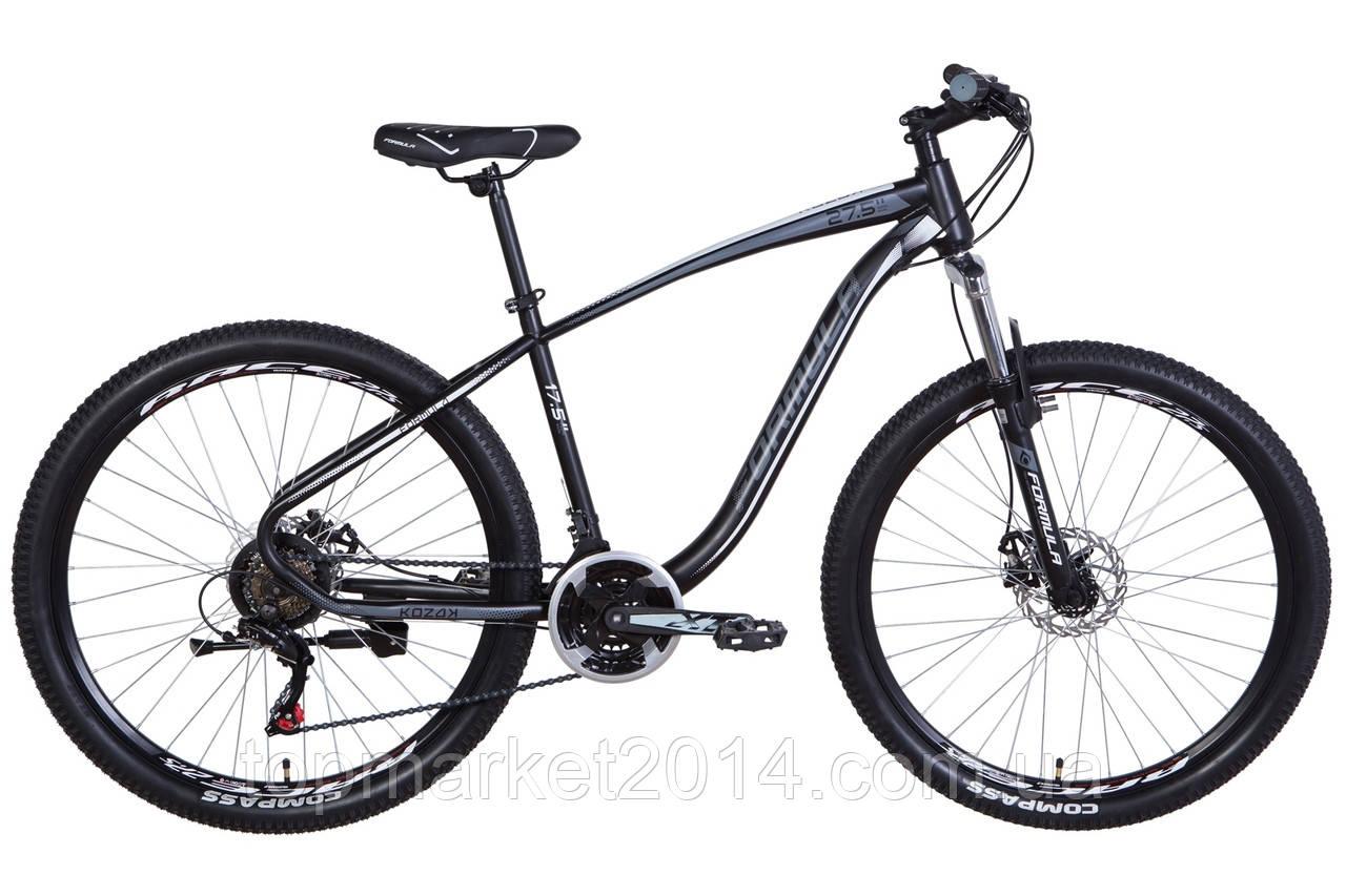 """Горный велосипед  FORMULA KOZAK 27.5"""" (черно-серый с белым)"""