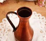 Старий колекційний мідний глечик, мідь, латунь, Німеччина, вінтаж, фото 7