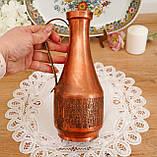 Старий колекційний мідний глечик, мідь, латунь, Німеччина, вінтаж, фото 4