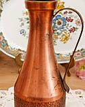 Старий колекційний мідний глечик, мідь, латунь, Німеччина, вінтаж, фото 6