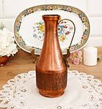Старый коллекционный медный кувшин, медь, латунь, Германия, винтаж, фото 2