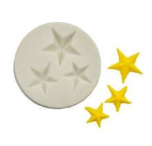 "Молд кондитерский ""Три звездочки"" - размер молда 5,4см, силикон"