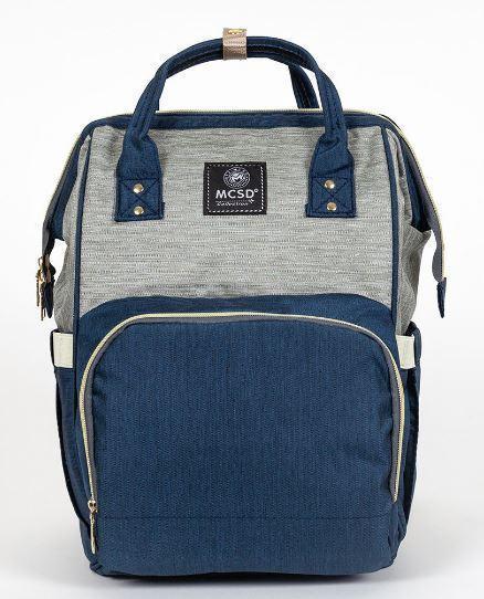 Сумка-рюкзак MK 2878, синьо-сірий