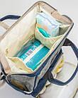 Сумка-рюкзак MK 2878, синьо-сірий, фото 3