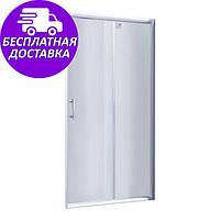 Душевая дверь в нишу Lidz Zycie SD100x185 прозрачное стек. Стеклянные двери для душа, кабины раздвижные МойДом