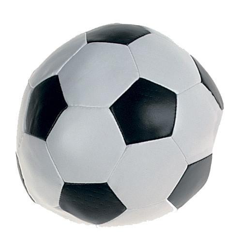 Flamingo Soccerball Blackwhite ФЛАМИНГО СОКЕРБОЛ игрушка для собак, мяч черно-белый, искусственная кожа 15 см