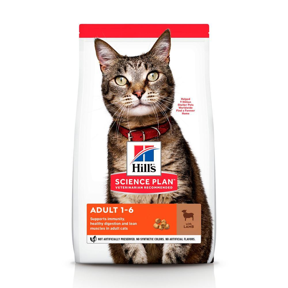 Сухий корм Hills Science Plan Feline Adult L&R 10 кг для дорослої кішки зі смаком ягня та рісу