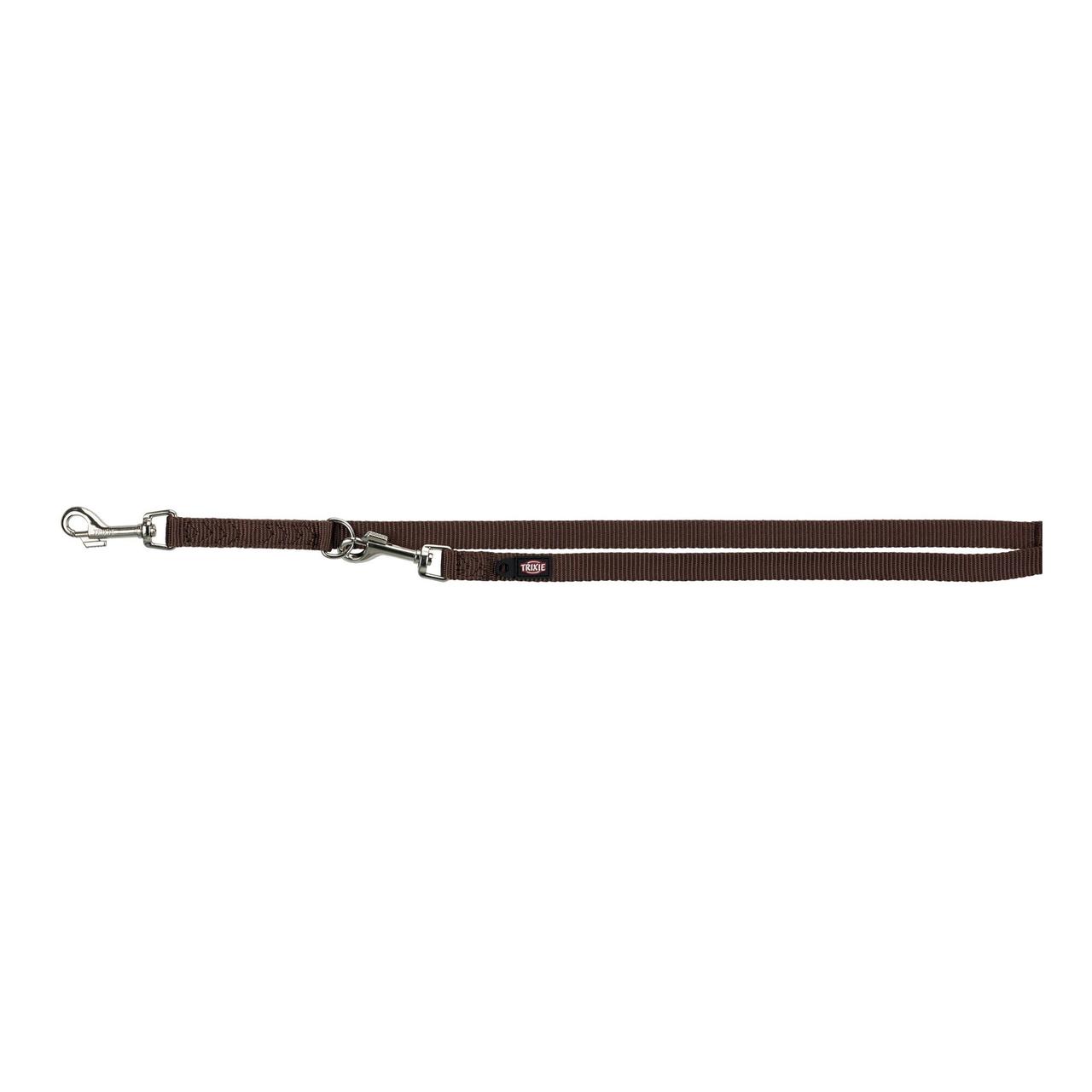 Повідець-перестежка Trixie з нейлону «Premium» XS-S 2 м / 15 мм (коричневий)