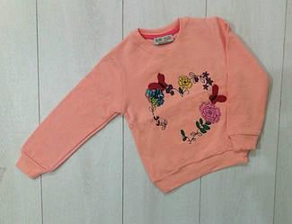Свитшот  с длинным рукавом  утепленный для девочки, с начесом, Paty Kids (размер 1/2(86-92))