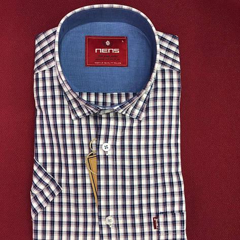 Котонова сорочка з коротким рукавом Nens в клітку, фото 2