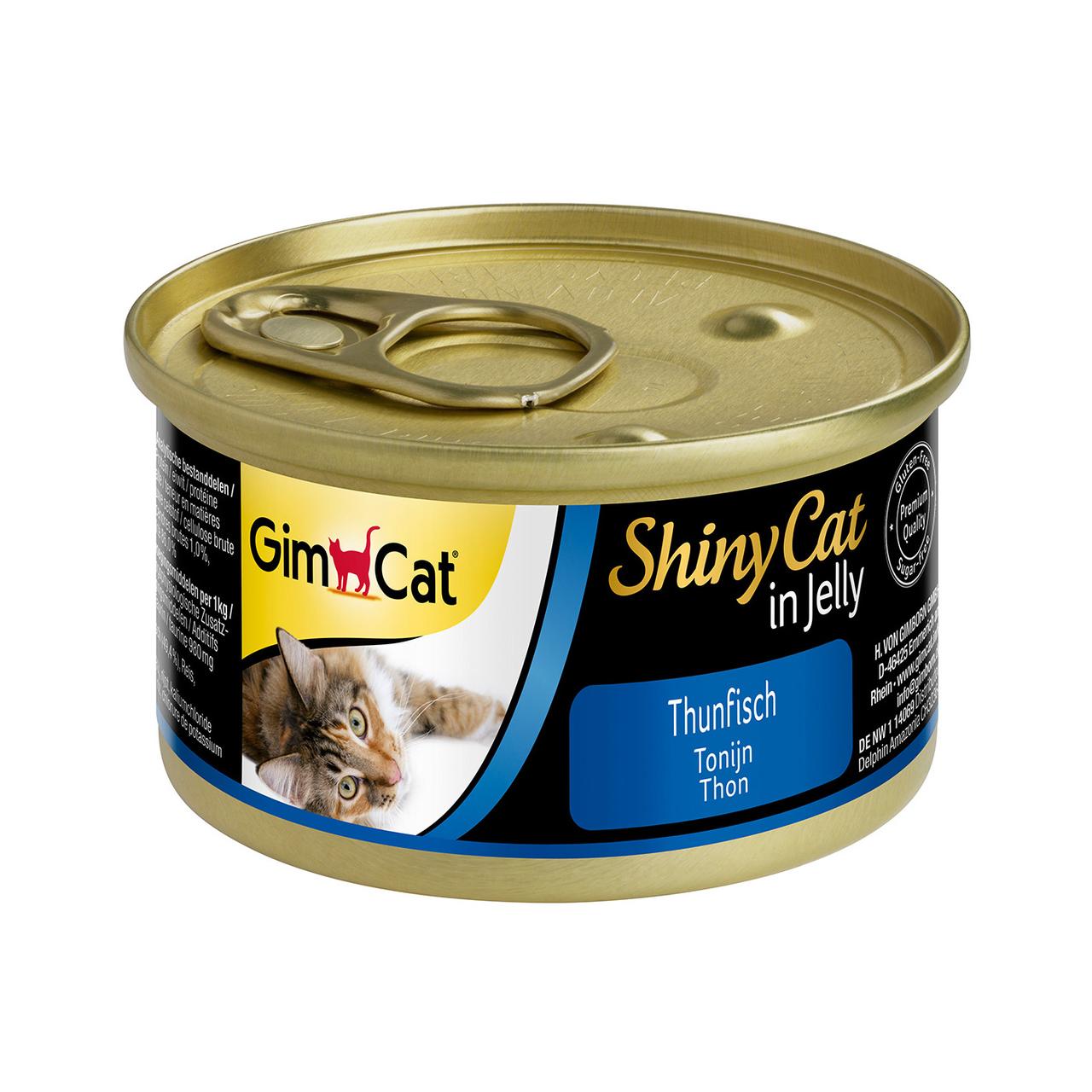 Вологий корм для кішок GimCat Shiny Cat 70 г (тунець)