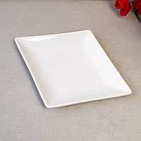 Ромбическая фарфоровая тарелка для ресторанов HLS 150*240 мм (A1140)