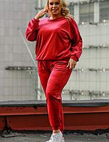 Жіночий велюровий костюм стильний Батал