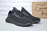 Чоловічі чорні легкі кросівки сітка Restime великі розміри:46,47, фото 2