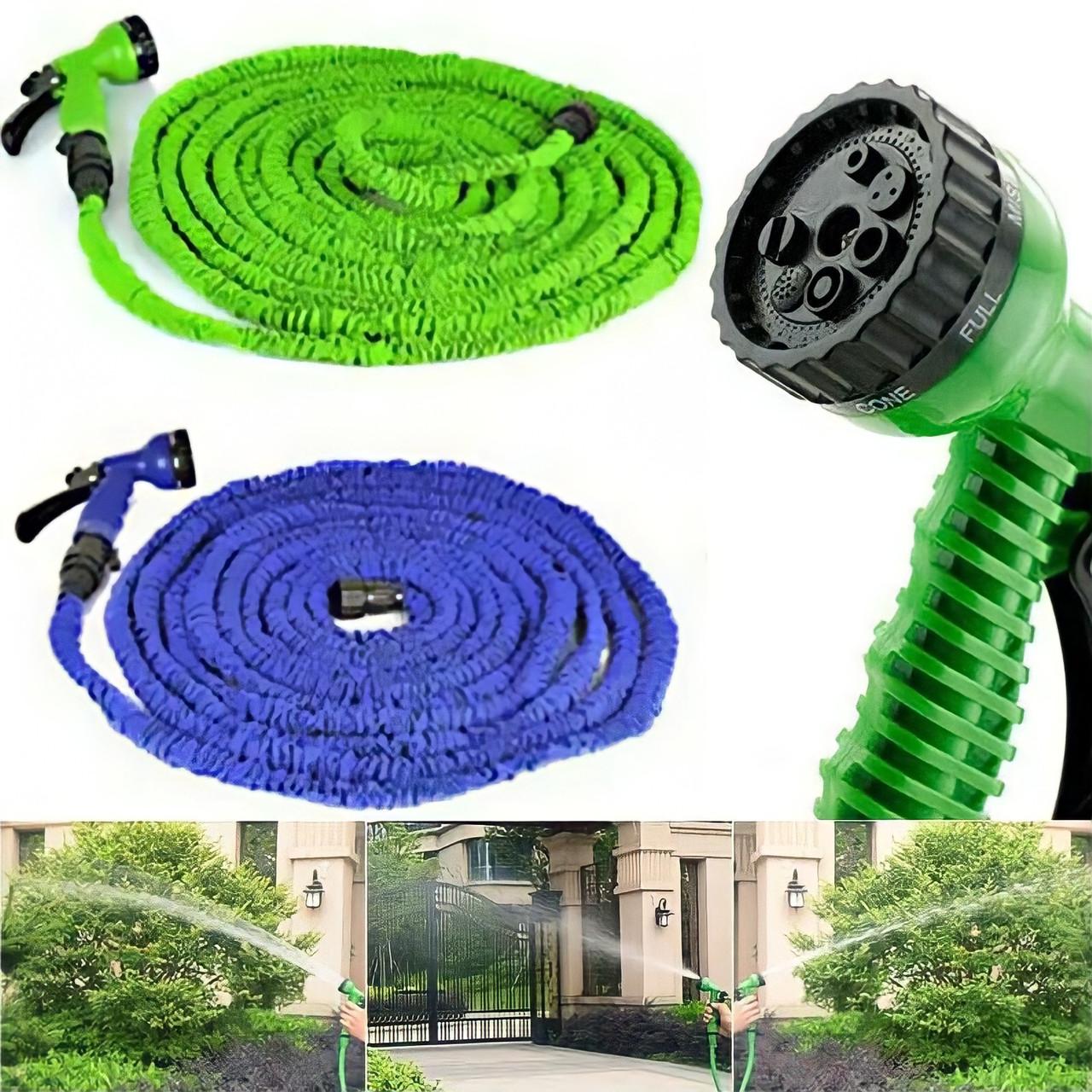 Шланг поливочный X-hose для сада 7,5 м    Хhose шланг для полива с насадкой распылителем 7 режимов