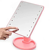 Настільне дзеркало для макіяжу Mirror з LED підсвічуванням 16 діодів квадратне, фото 8