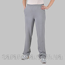 Широкі жіночі прямі сірі брюки з двунитки розмір 50,52,54,56