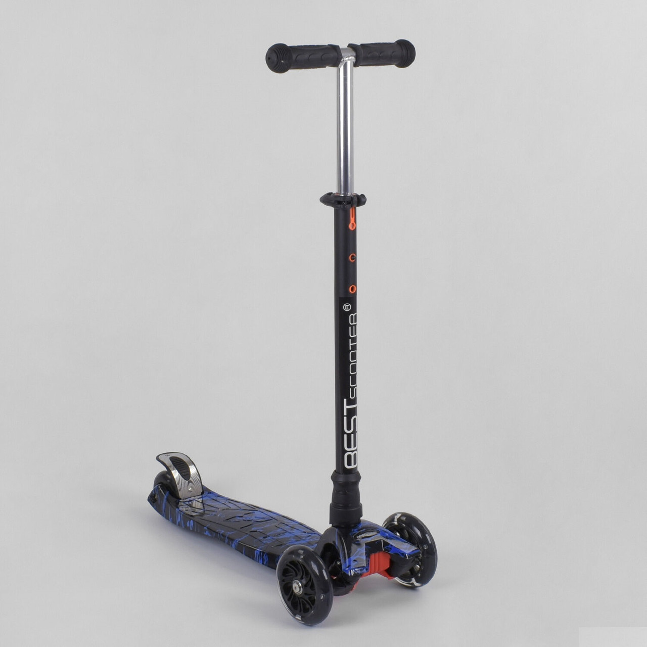 Самокат дитячий триколісний Best Scooter, 4 світло. колеса PU, 1528