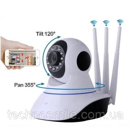 Камера видеонаблюдения Wi-Fi Smart NET Camera Q6 3 антенны