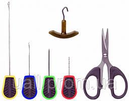 Carp Zoom Tempo Needle & Acissors Set (комплект бойлових голокосту, свердла, затягувача і ножиці)