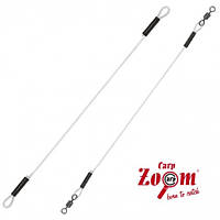 Гумка Carp Zoom Power Gum Link swivels, Ø1.0mm 2pcs (готова фідерна з вертлюгами 2 шт.)