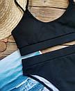Жіночий купальник топ рубчик червоний, фото 5