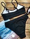 Жіночий купальник топ рубчик червоний, фото 6