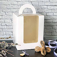 Коробка для кулича, пряничного домика 160х160х200 мм.