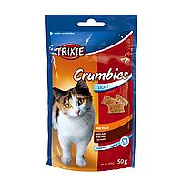 Лакомство для кошек Trixie «Crumbies» 50 г (для выведения шерсти)