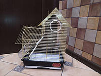 Клетка для мелких попугаев и птиц A408 золото