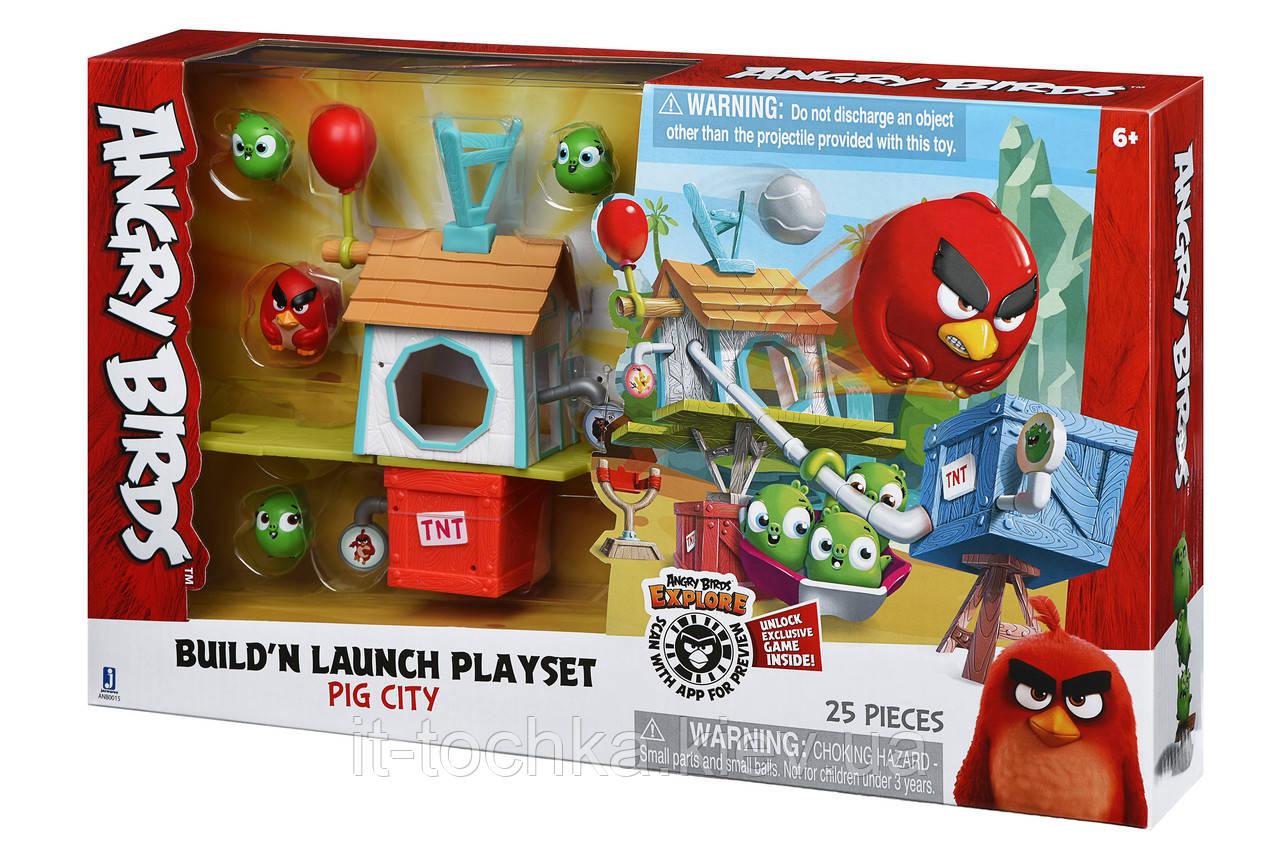 Игровой набор фигурок jazwares anb0015 angry birds anb medium playset Энгри Бердс (pig city build 'n