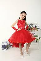 Нарядное платье  с ассиметричным низом для девочек