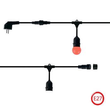 Уличная Ретро Гирлянда Belt Light 10 метров из 10 LED Ламп Е27 IP44