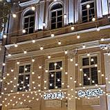 Уличная Ретро Гирлянда Belt Light 10 метров из 10 LED Ламп Е27 IP44, фото 10