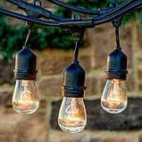 Уличная Ретро Гирлянда Belt Light 10 метров из 10 LED Ламп Е27 IP44, фото 4