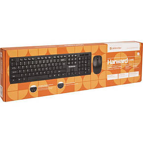 Комплект Клавиатура + мышь Defender Harvard C-945 KIT Black (45945) USB, фото 2