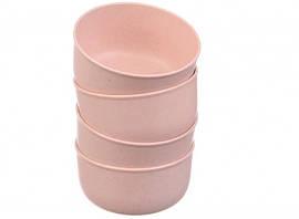 Еко тарілки 68-1083 рожеві, 4 шт