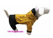Водовідштовхувальний якісний і стильний дощовик з капюшоном для собак DogsBomba