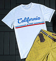 Мужская футболка белая Калифорния
