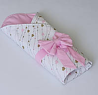 """Летний конверт на выписку """"Розовые сердца"""""""