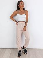 Жіночі стильні спортивні штанці на манжетах Норма