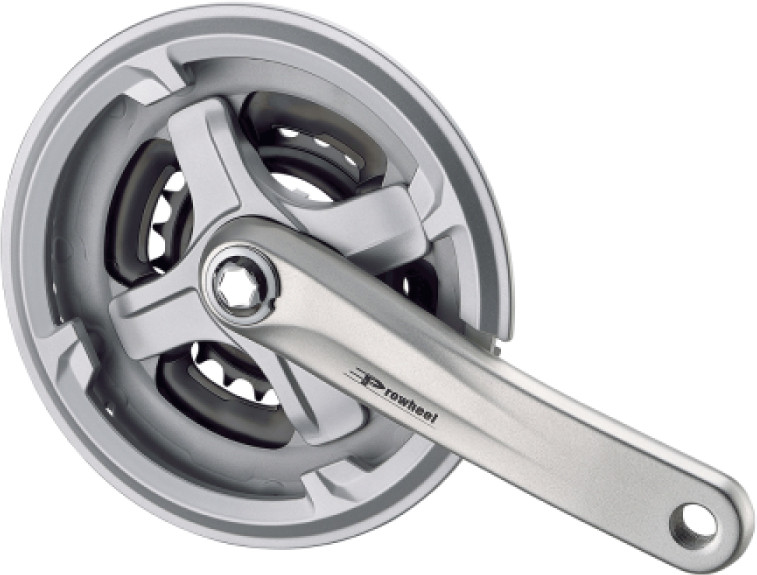 Велосипедні шатуни Prowheel ТА-СN68 (42-34-24), L-175 мм, срібло