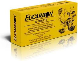 ЭУКАРБОН (EUCARBON) очищения кишечника и устранения метеоризма мягкий слабительный эффект 30шт Египет