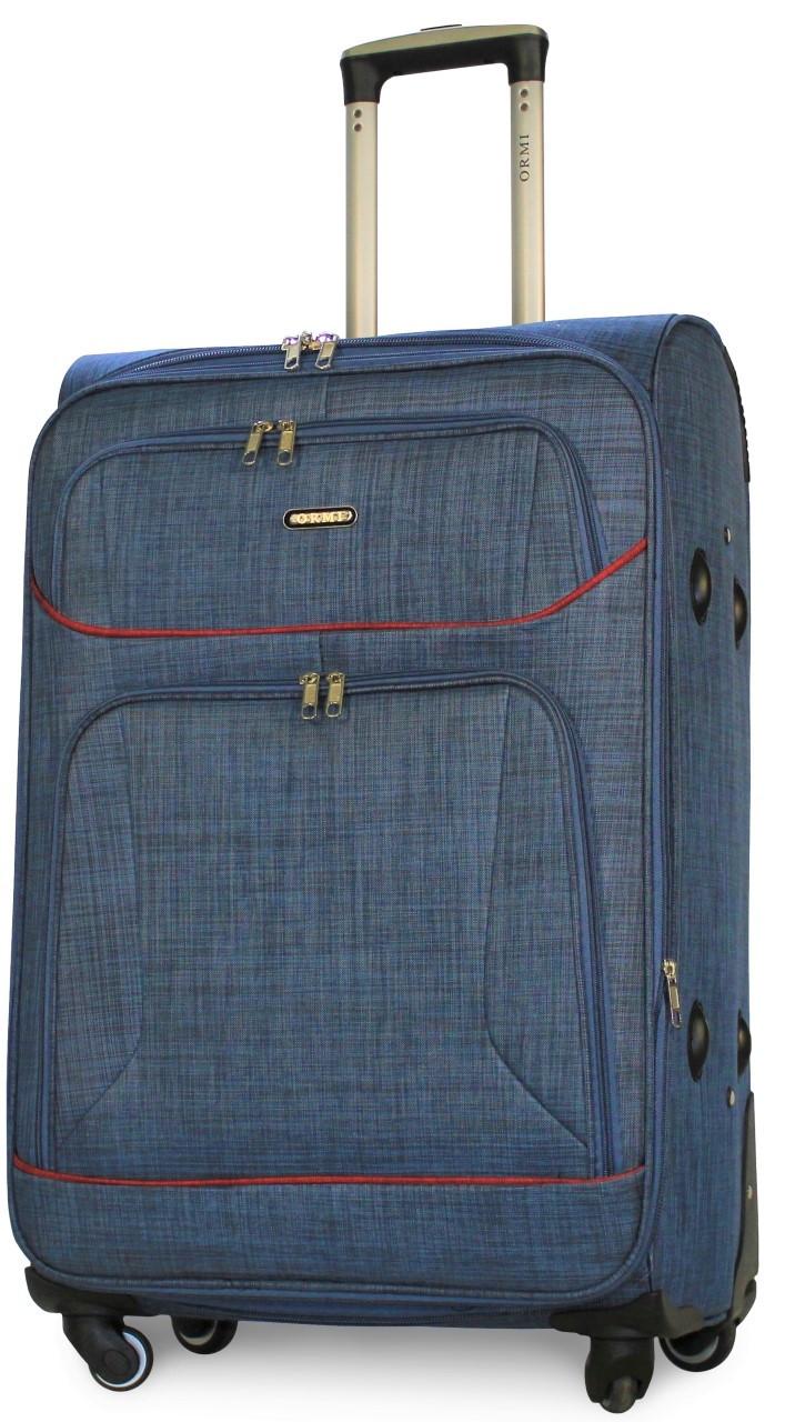 Валіза тканинна на 4х колесах велика L синя   30х74х48 см   3.900 кг   100 л   ORMI 701