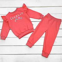 Дитячий костюм для дівчинки на ріст 86 (кораловий )