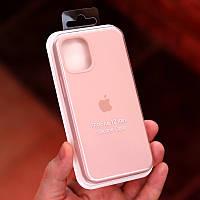Силиконовый чехол накладка Silicone Case (high copy) iPhone 12 Mini Розовый