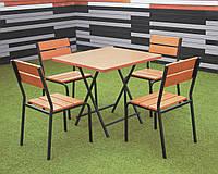 "Комплект мебели ""Рио Солид Флекс"" Тик 1 стол + 4 стула, фото 1"